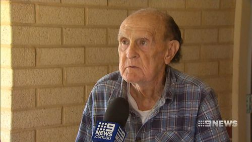 Bill Anglesey was home alone inside his home when a couple smashed their way inside. (9NEWS)