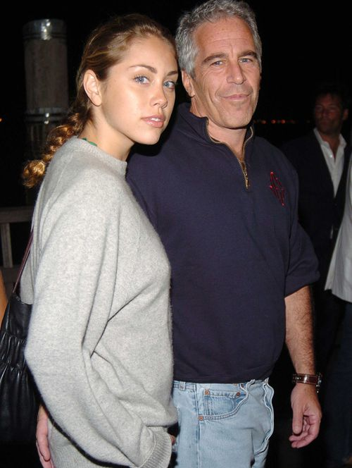 Jeffrey Epstein and an unknown female attend a party in New York City, in 2005.