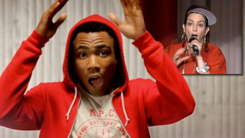 Tina Fey and Donald Glover (aka Childish Gambino) get their rap on.