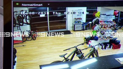 Bikes stolen after car smashes into store