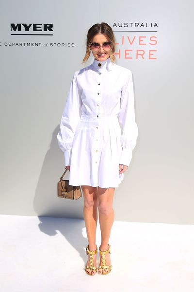 <p>Win</p> <p>Kate Waterhouse in Anna Quan at the Myer season launch, Sydney</p> <p>Sleek chic from the stylish racing identity.</p>