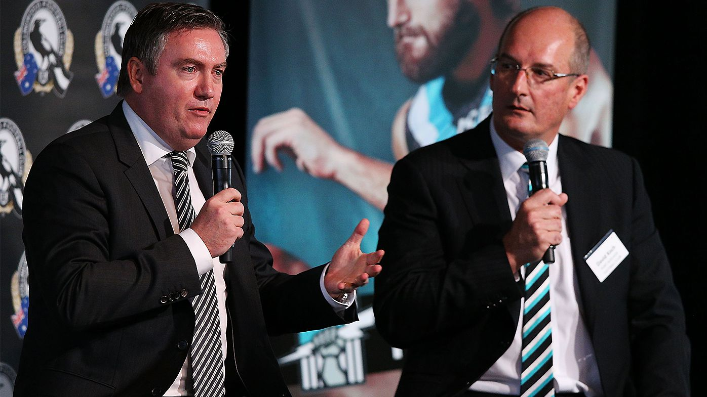 Eddie McGuire claims Port chairman David Koch is 'trying to look more like Collingwood'