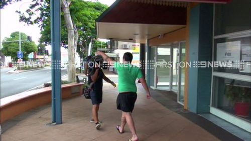 The incident ended in a scuffle between a 9NEWS cameraman and the accused woman's son. (9NEWS)