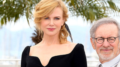 "Nicole Kidman and director Steven Spielberg at the 2013 Cannes film festival.<span class=""Apple-tab-span"" style=""white-space:pre;"">	</span>"