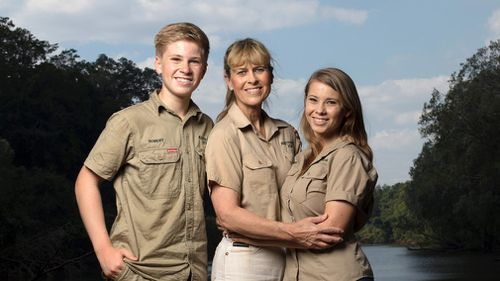 """The Irwin family is returning to television's Animal Planet, 11 years after the death of """"The Crocodile Hunter"""" star and family patriarch Steve Irwin. (AAP/Animal Planet)"""