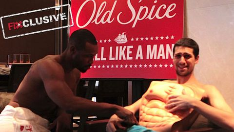 Old Spice Guy strips down, swears and meets his muscle match in hilarious interview