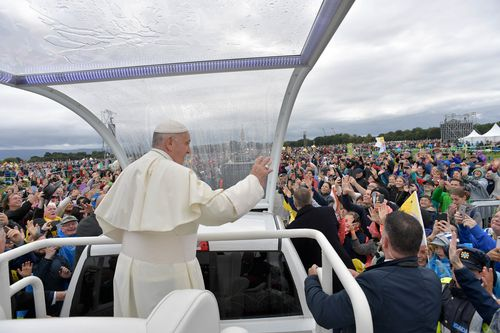 Pope Francis attends the closing Mass at the World Meeting of Families, as part of his visit to Ireland