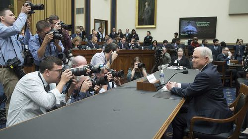 Attorney-General Jeff Sessions testifies before Congress. (AAP)