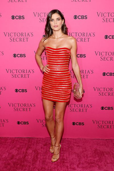 Sara Sampaio in Aadnevik at the Victoria's Secret viewing party in New York.