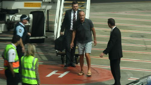 Chris Dawson Sydney Airport arrival