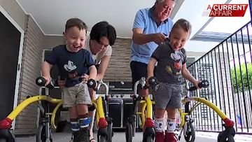 Three children learn to walk thanks to Aussie donors