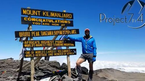 Kilimanjaro in Africa was Steve Plain's second mountain for his challenge.