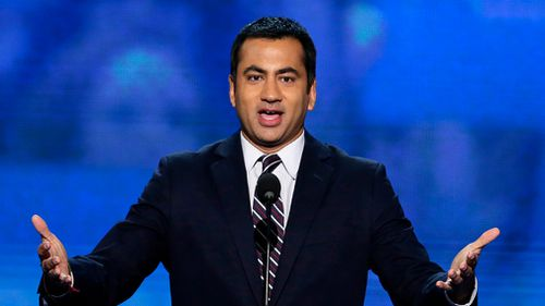 Actor Kal Penn addresses the Democratic National Convention in Charlotte, North Carolina. (AP)