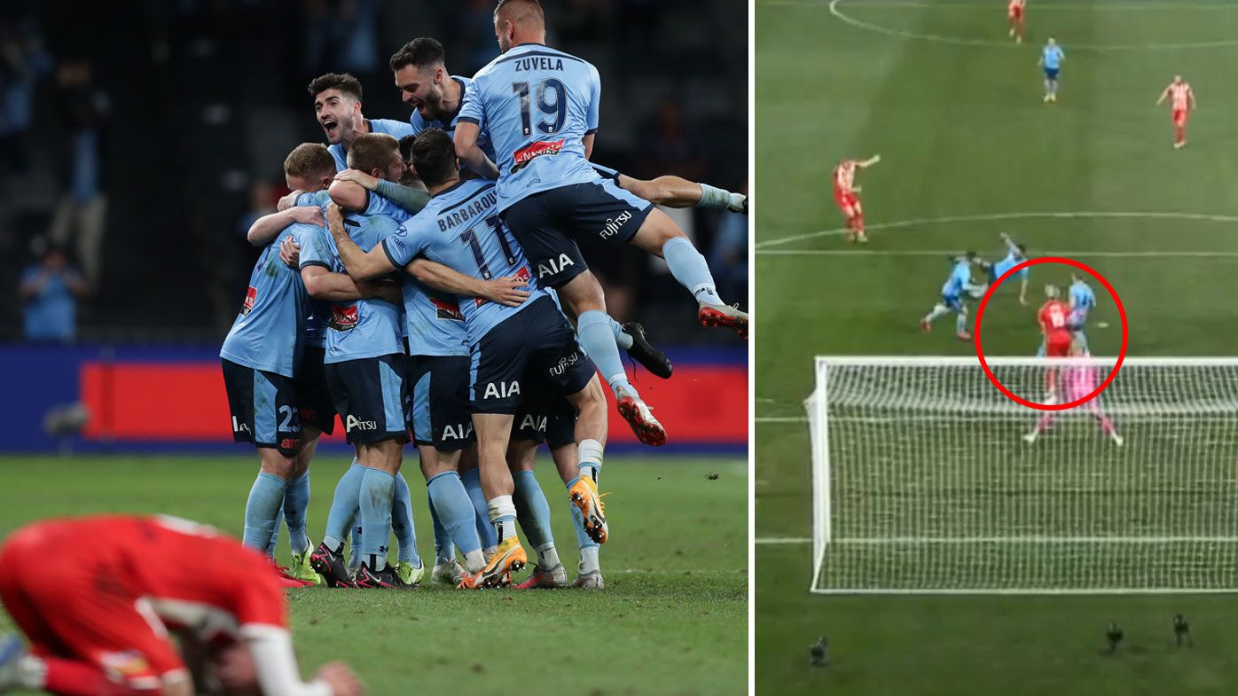 Sydney FC overcome early VAR controversy to be crowned A-League champions. (Getty)