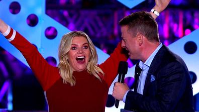 Rebecca Maddern and Ben Fordham hosting Australian Ninja Warrior in 2020.