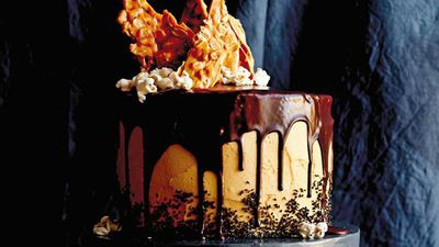 """Recipe:<a href=""""http://kitchen.nine.com.au/2016/06/23/10/14/caroline-griffiths-chocolate-layer-cake-with-peanut-butter-frosting"""" target=""""_top"""" draggable=""""false"""">Caroline Griffith's chocolate layer cake with peanut butter frosting</a>"""