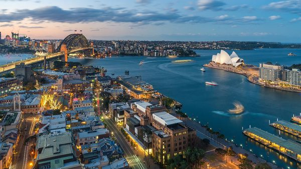 Impressive views of Sydney harbour
