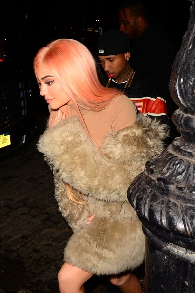 Kylie rocks orange locks