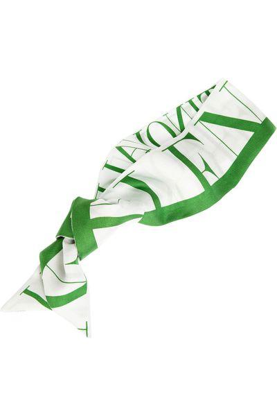"""<a href=""""http://www.net-a-porter.com/au/en/product/513893"""" target=""""_blank"""">Printed silk-twill scarf, $157.29, Valentino</a>"""