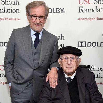 Arnold Spielberg and Steven Spielberg.