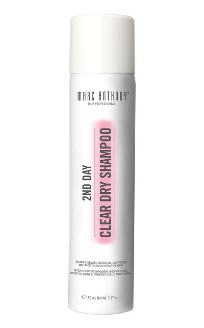 "<p><a href=""http://www.marcanthony.com/"" target=""_blank"">2nd Day Clear Dry Shampoo, $14.99, Marc Anthony True Professional</a></p>"