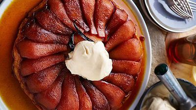 "Recipe:&nbsp;<a href=""http://kitchen.nine.com.au/2016/05/05/14/33/pear-tarte-tatin-with-cinnamon-ice-cream"" target=""_top"">Pear tarte tatin with cinnamon ice cream</a>"
