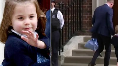She's a proper princess now: Charlotte's royal wave steals hearts