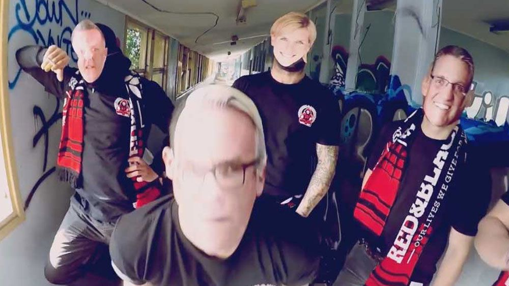 Wanderers 'bloc' fans in provocative video
