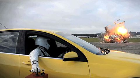 Video: Top Gear blows up a caravan to celebrate 10m Facebook likes