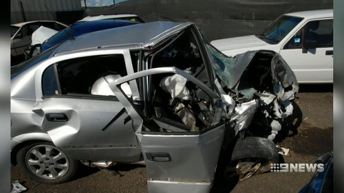 The teen collided head-on with another P-plater. (9NEWS)