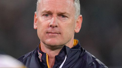 Eagles coach Adam Simpson rushes home to be with sick daughter