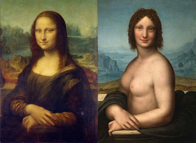 Da Vinci painted a nude version