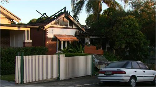 An elderly man has been rescued from a house fire in Five Dock this morning.
