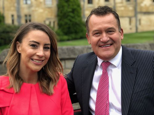 Diana's former butler, Paul Burrell, with A Current Affair's Laura Turner.