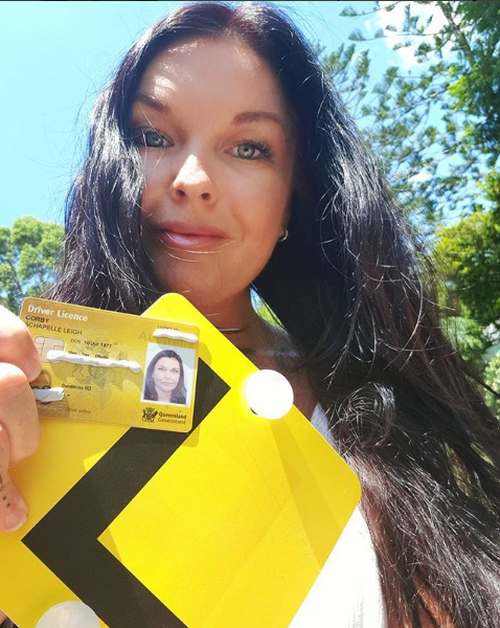 Schapelle Corby posted an Instagram photo with her new Queensland Learner's driving licence today (Instagram).