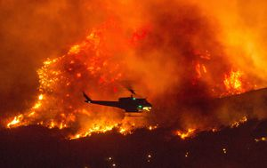 More than 85 fires raging on US west coast as thousands evacuated