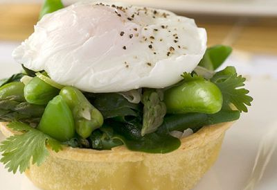 Egg and vegie tarts