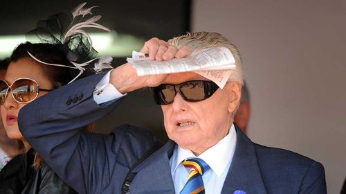Cummings watches his horse Lunar Rise from the mounting yard. (AAP)