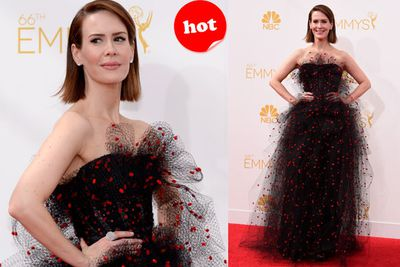 <i>American Horror Story</i> star Sarah Paulson gets points for bravery with this out-there outfit!
