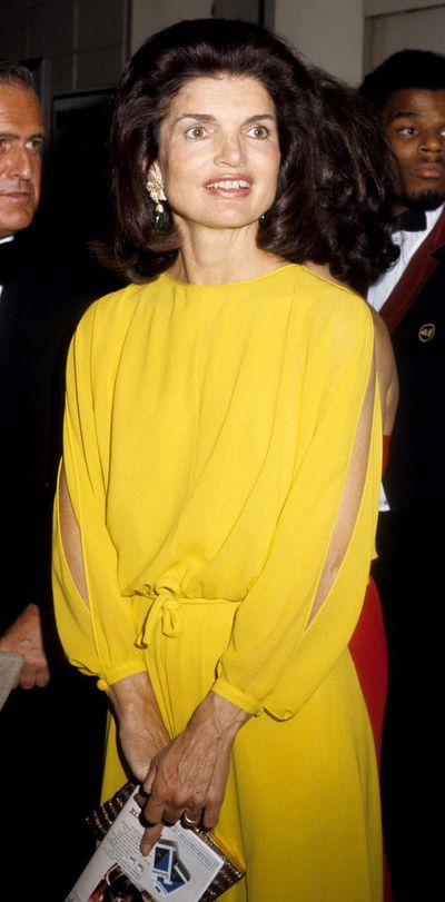 Jackie Kennedy Onassis at the Metropolitan Opera House, New York, May 13, 1975.
