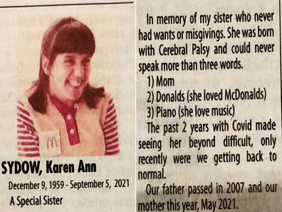 Sister obit brother