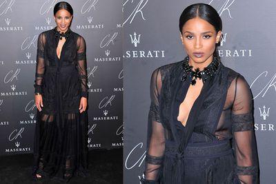 Nope, it's not another Kardashian sister, singer Ciara turned up looking strikingly similar to Kim.