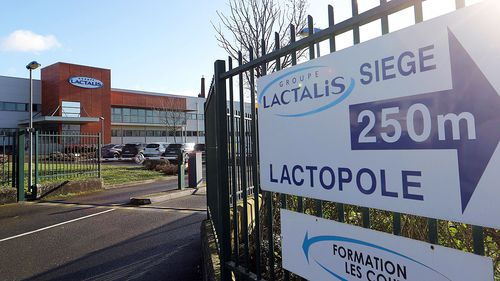 Head Office and Factory of dairy group Lactalis in Laval, France. (AAP)