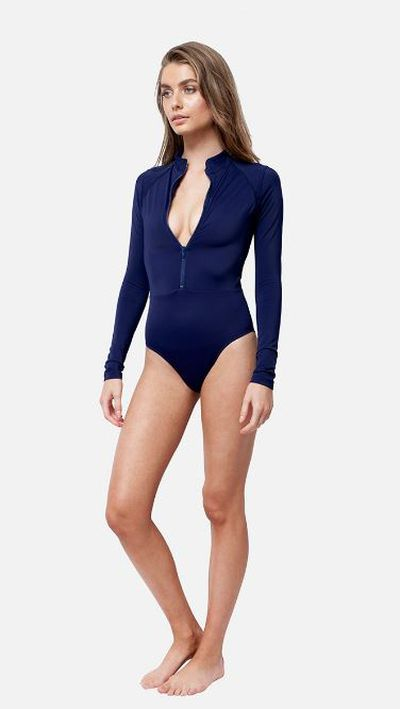 "<a href=""https://unepiece.com/collections/original-sexie-rashie/products/navy-sexie-rashie?variant=28428818701"" target=""_blank"" draggable=""false"">Une Original Sexie Rashie in Navy, $195.</a>"