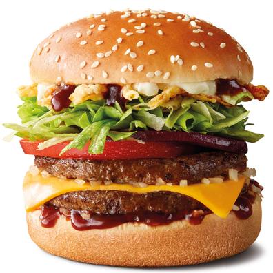 The Crispy BBQ McOz burger