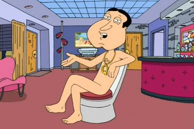 """<div align=""""left""""><B>Played by:</b> Seth MacFarlane.</p><br/>""""Giggity giggity goo!"""" If she's a she and has a pulse, the odds are Glenn Quagmire is interested… and already naked. As Spooner Street's resident pervert, Quagmire has slept with over 600 women and only has one known turnoff: When people say the word 'rubbish' when they mean 'garbage'.</div><br/>"""