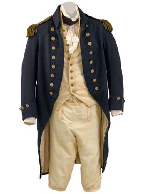 Captain Jack Aubrey's costume from Master and Commander: The Far Side of the World. (Sotheby's)