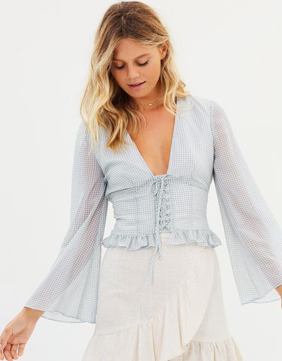 """<a href=""""https://www.theiconic.com.au/willa-long-sleeve-top-590114.html"""" target=""""_blank"""" title=""""The East Order Willa Long Sleeve Top, $90.30"""">The East Order Willa Long Sleeve Top, $90.30</a>"""
