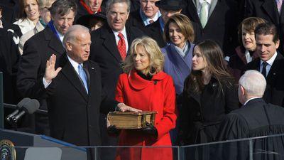 Biden takes the oath of office