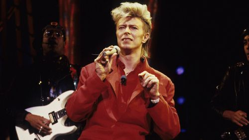 Bowie performs in 1987 in New York. (Getty)